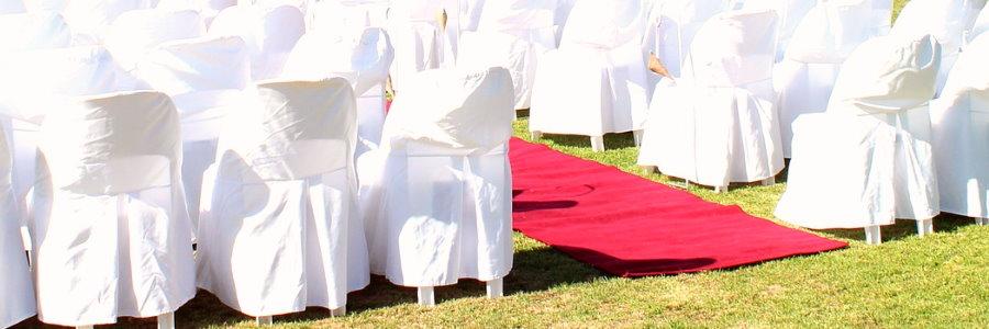 Tapis rouge pour cérémonie de mariage